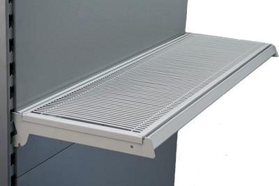 Gitterboden mit Nut L 1330 T 370mm RAL 9006