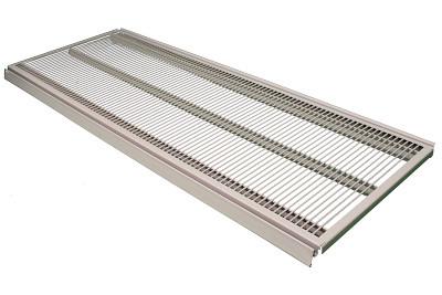 Tegometall Gitterboden mit Nut L 1330 T 370mm RAL 9006