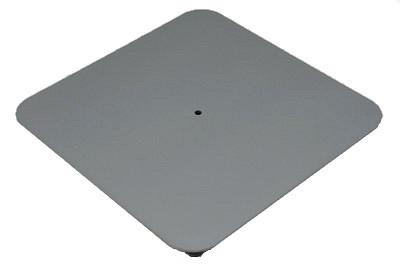 Tegometall Fussplatte quadrant B550 L550mm RAL 9006