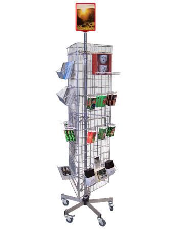 Tegometall Gitterständer mit 3 Gittern, fahrbar