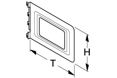 Aktenbügel mit Ausschnitt T 240 H 170