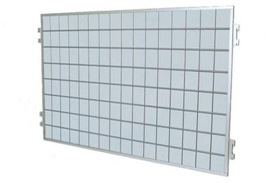 Tegometall Gitterrückwand zwischen Rundsäulen  L605 H600 RAL 9006