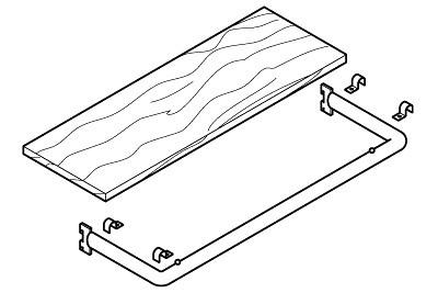 Auflagebügel für Konfektionsrahmen (Holz)