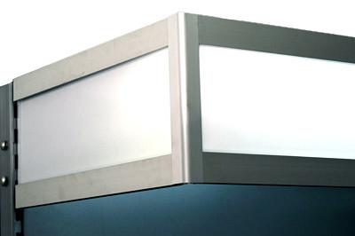 Beleuchtungsblende L1000 H250 T570 Anbaufeld
