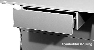 Tegometall Einbauschublade abschließbar lichtgrau L580 T550 H180 mm