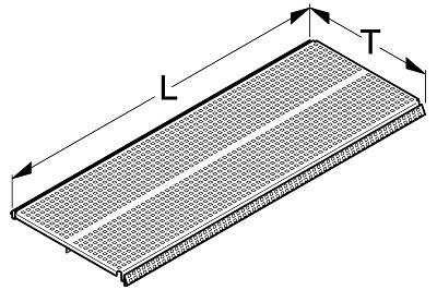 Tegometall Fachboden quadrant L 1000 T 300