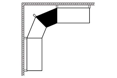 Glasfachboden IE45° T470