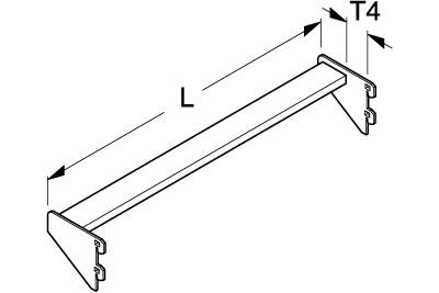 Tegometall Durschschubsicherung T40 L 1250