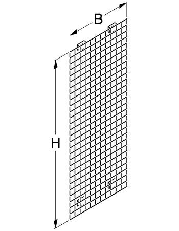 Tegometall Gitter Stirnseite CG 55 X 40 B 540 H 1400