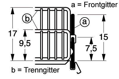 Tegometall Frontgitter L 665 H 95