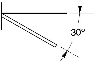 Abhängeträger schräg T 400mm