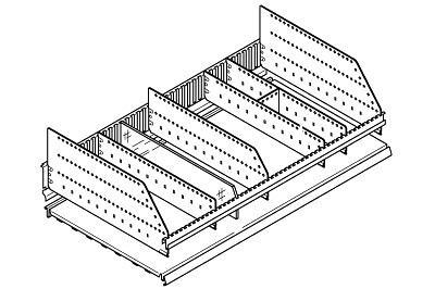 Tegometall Abteilleiste H 10 L 1250