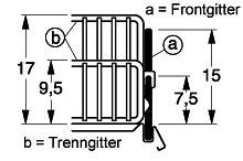 Tegometall Frontgitter L 1000 H 170