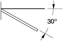 Tegometall Abhängeträger schräg T 400mm